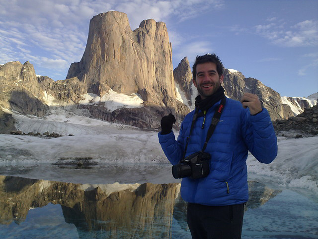 Alastair Lee, currently filming on Baffin Island. The Asgard Project film is premiering at this year's Kendal., 110 kb