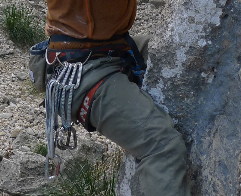 Combined with lightweight carabiners, a light harness can make a significant weight saving., 130 kb