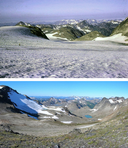 The Whitechuck Glacier, Washington, USA, 1973 and again in 2006, 127 kb