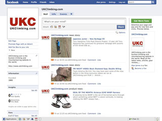 UKClimbing.com on Facebook, 17 kb