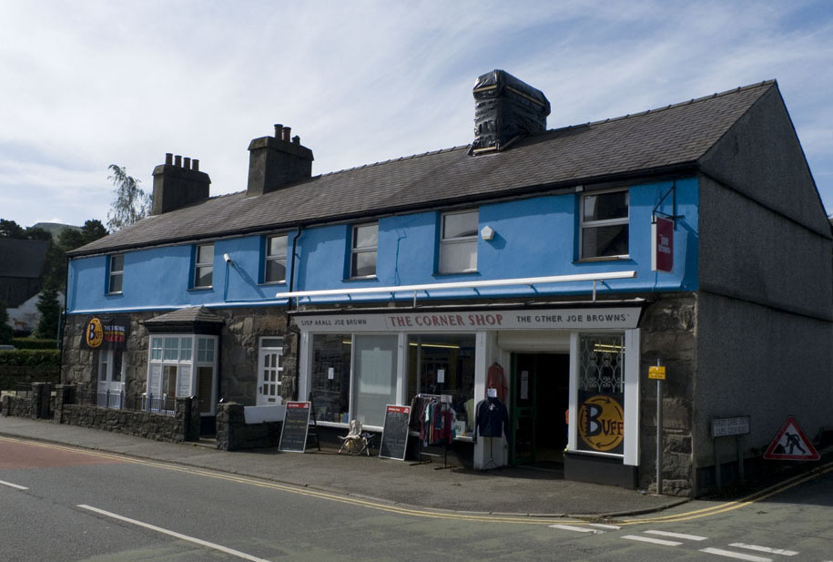 The smart and bright shop front has had a big impact on the Llanberis high street, 116 kb