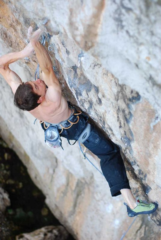 Pete Robins on his ascent of Liquid Ambar, F8c, 74 kb