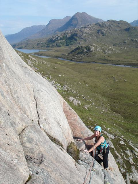 Making the most of the brief Scottish summer, climbing on Carn Gorag @ 32 weeks, 67 kb