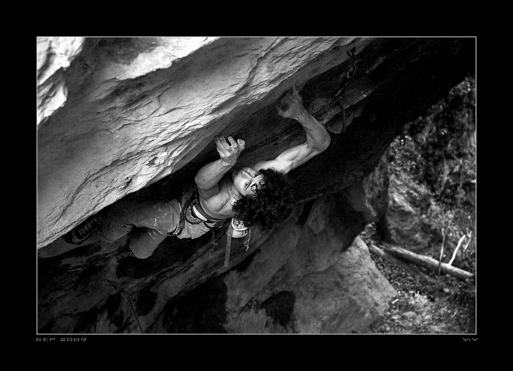 Adam Ondra on Der heilige Gral (F9a), 115 kb
