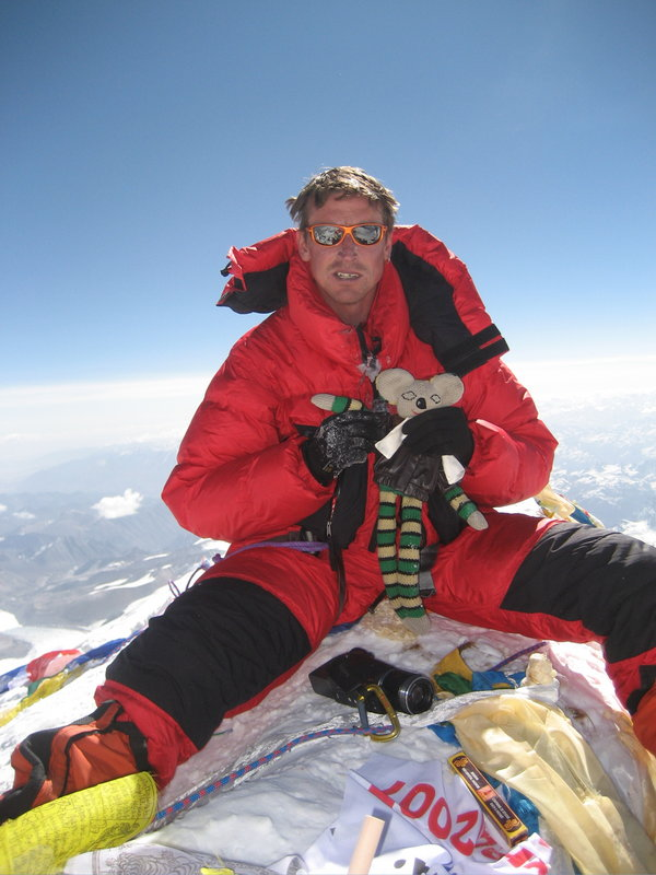 Kenton Cool on the summit of Everest (again!), 84 kb