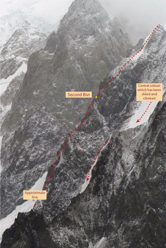 Punta Baretti Southwest Spur, 132 kb