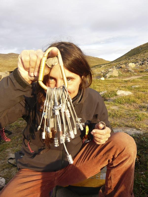 Expert aid climber Silvia Vidal and her Babies, 154 kb