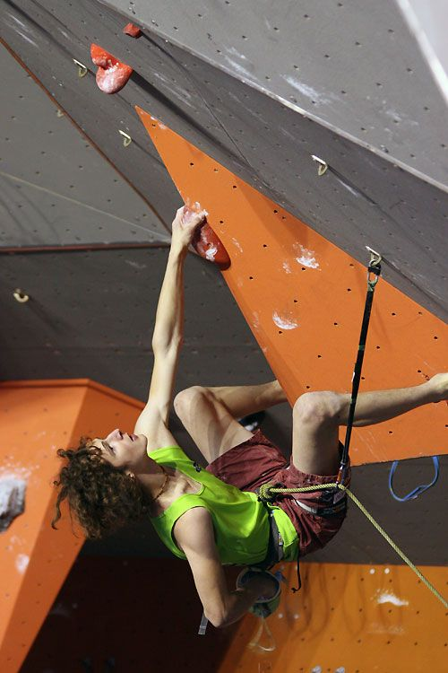 Adam Ondra climbing in the IFSC Worldcup event at Puurs in Belgium, 54 kb