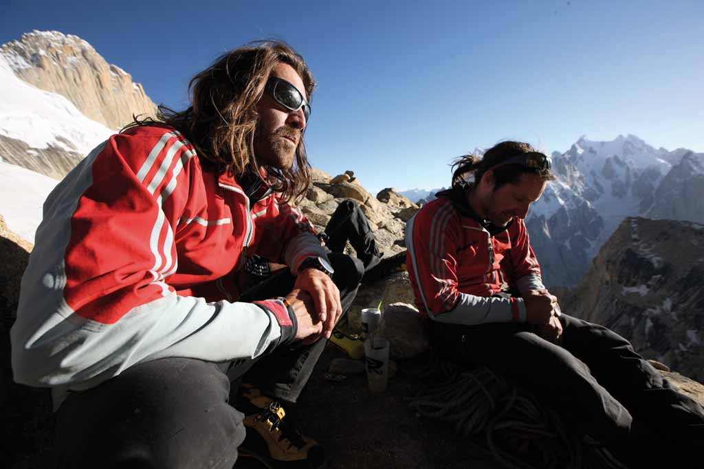 Thomas and Alexander at their camp at the so-called Sun Terrace, 70 kb