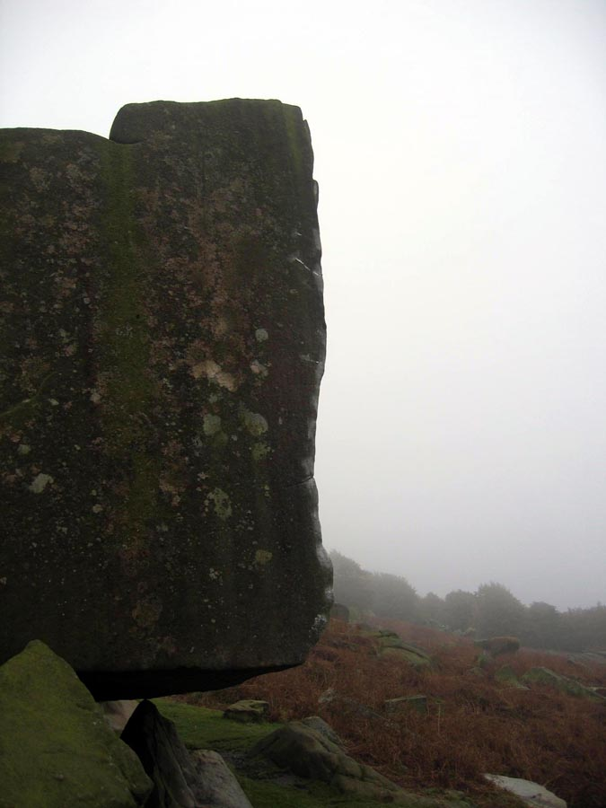 Brushing and tick marks on Careless Torque, Stanage, 64 kb