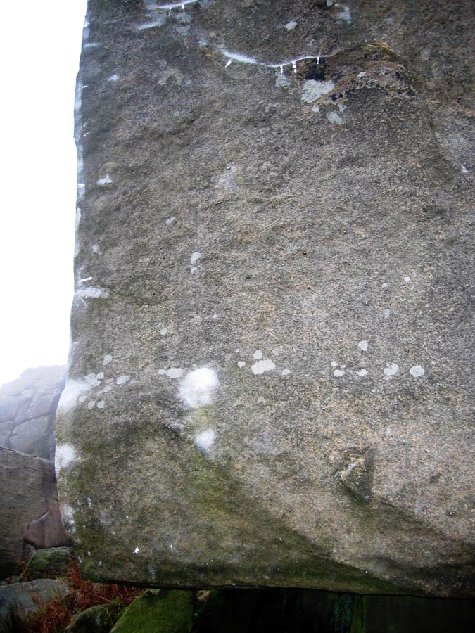 Brushing and tick marks on Careless Torque, Stanage, 170 kb