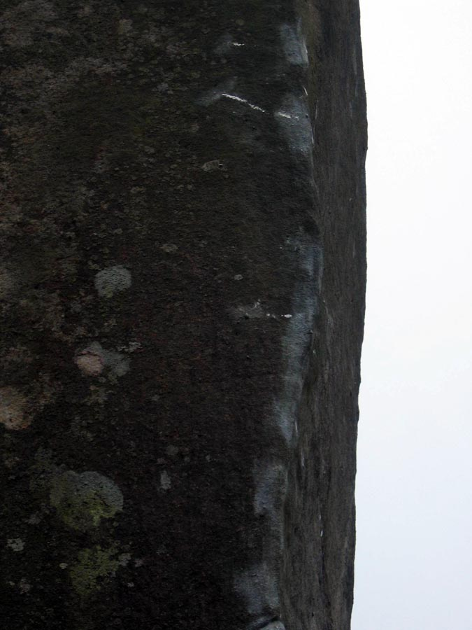 Brushing and tick marks on Careless Torque, Stanage, 83 kb