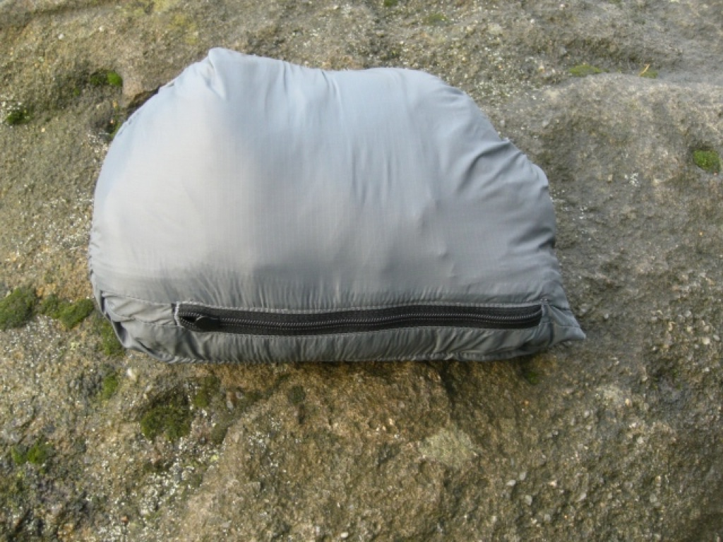 Arcteryx Atom Jacket packed in its own pocket, 222 kb