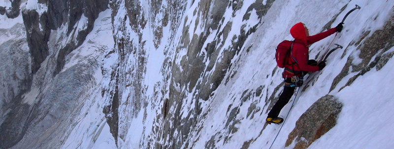 "Will Sim on the ""Desecures-Robach"" Jorasses North Face., 126 kb"