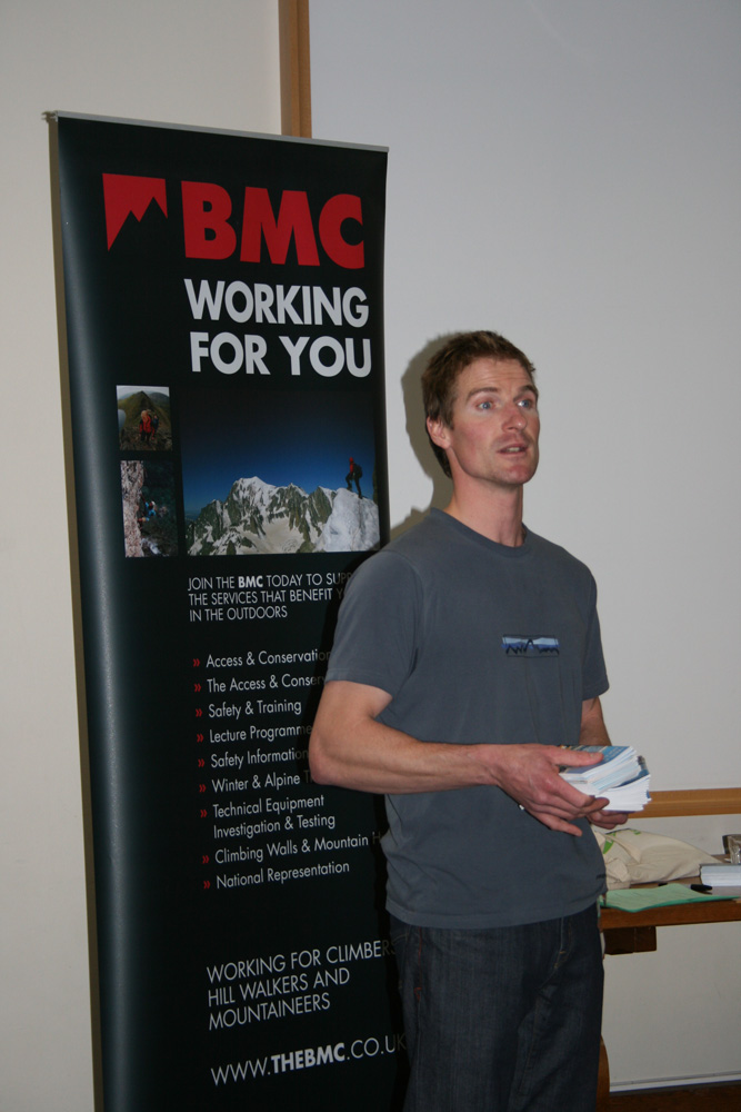 Stu McAleese fronting the successful Expedition Symposium at Plas y Brenin, 2009., 154 kb
