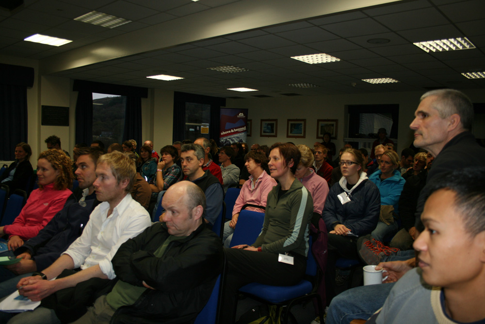 A sell-out crowd at the 2009 Plas y Brenin Expedition Symposium., 203 kb