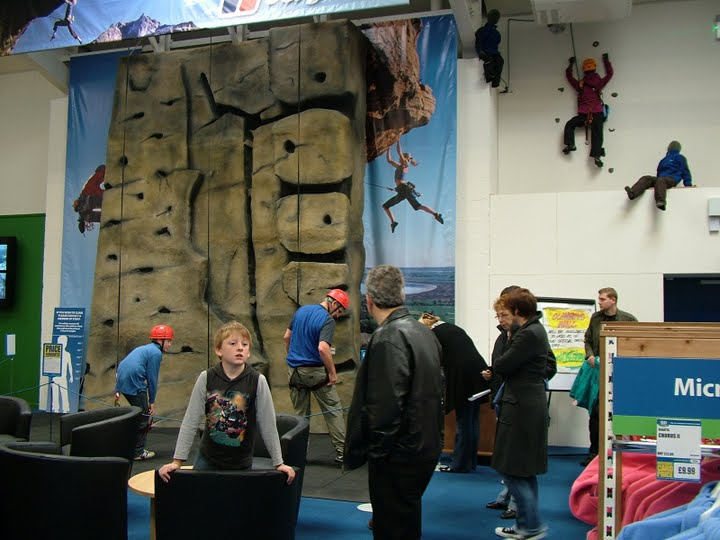 The Go Outdoors stores sometimes have climbing facilities, 62 kb