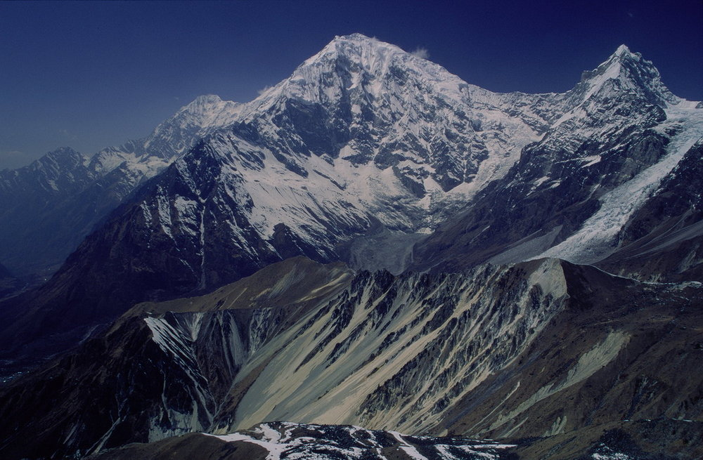 Langtang Lirung as seen from Tsergo Ri, 161 kb