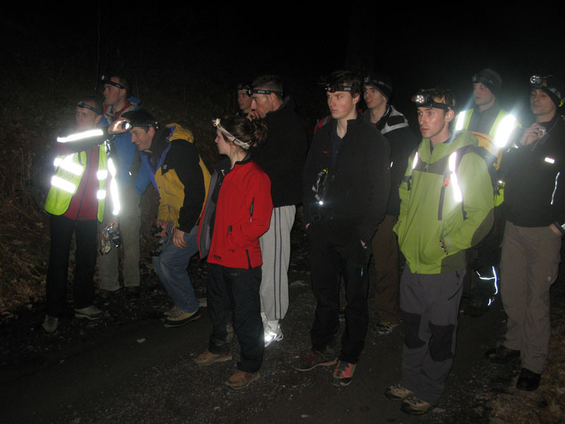 Learning about lumens: using Petzl headtorches on a night hike., 68 kb