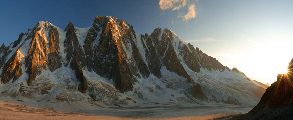 Sunset on the North Face of the Droites, 94 kb