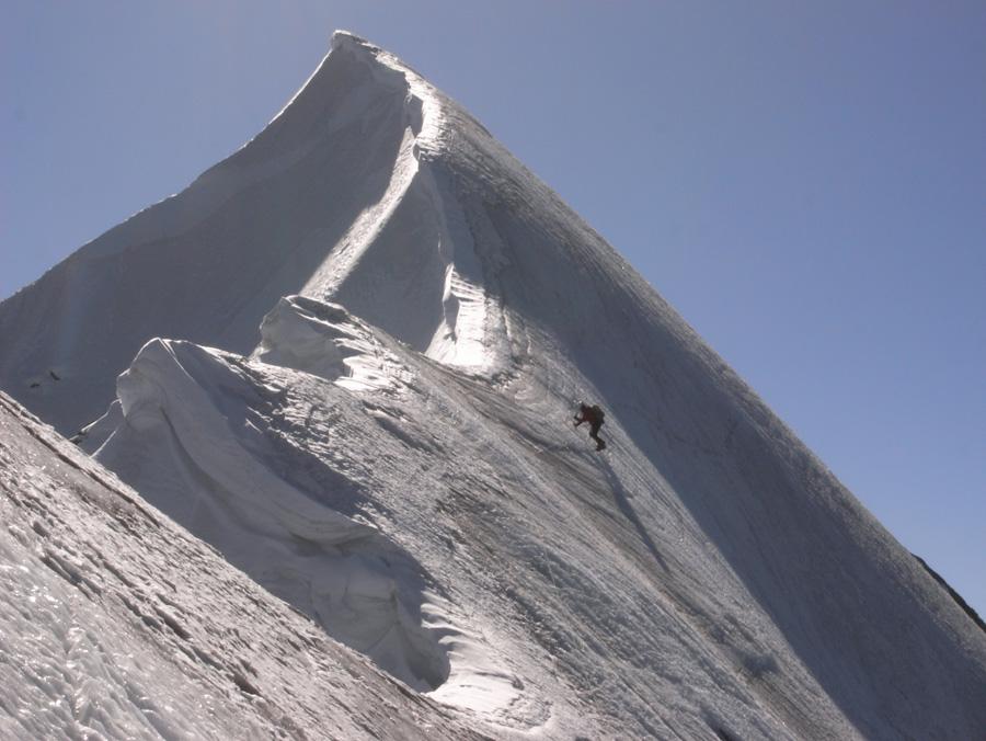 The first ascent of Ren  Zhong Feng, 190 kb