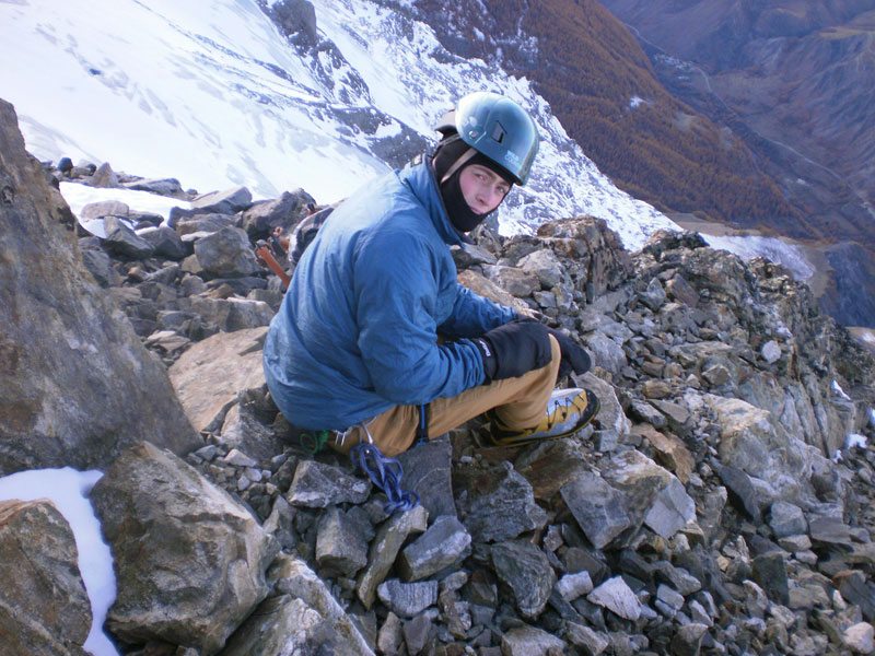 Hamish Dunn testing the Alpine Shield helmet from Wild Country, 139 kb