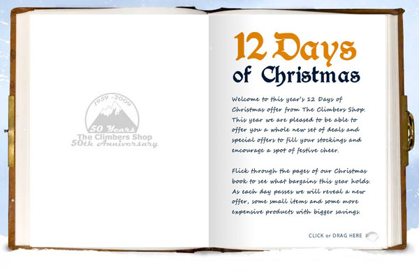 The Climbers Shop - 12 days of Christmas promotion #1, 41 kb