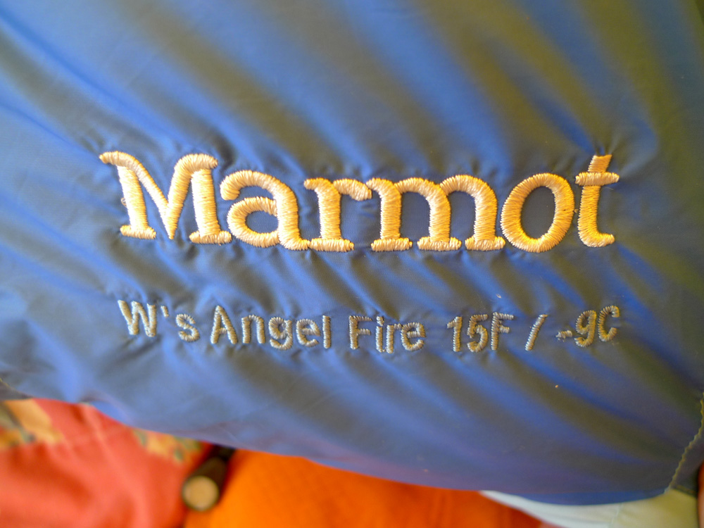 Angel Fire woman-specific Sleeping Bag, logo, 195 kb