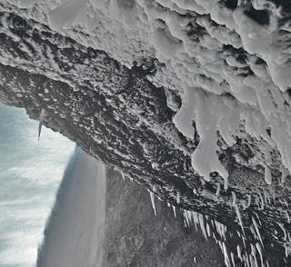 Spray On, 30M, WI10, Helmcken Falls, BC. FA Will Gadd, Tim Emmett, January 29, 2010., 30 kb
