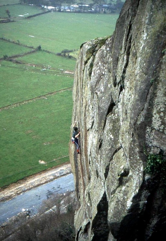 Big Ron working on Strawberries/Peaches the weekend before his first ascent., 116 kb