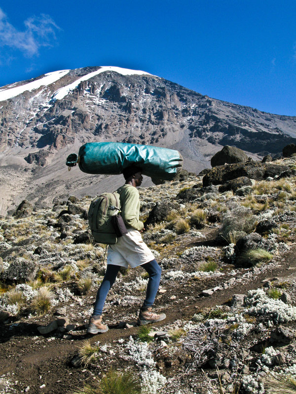 Porter on Kilimanjaro in Tanzania, 196 kb