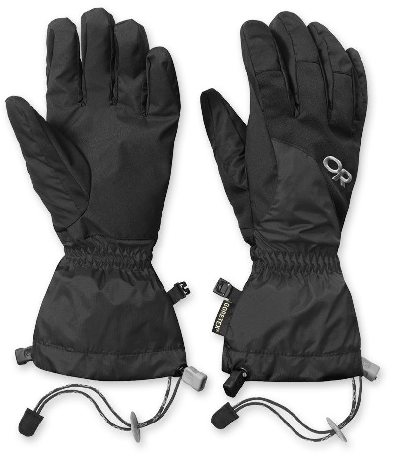 The Arete Glove, note the curved fingers and removable 'idiot cords', 80 kb