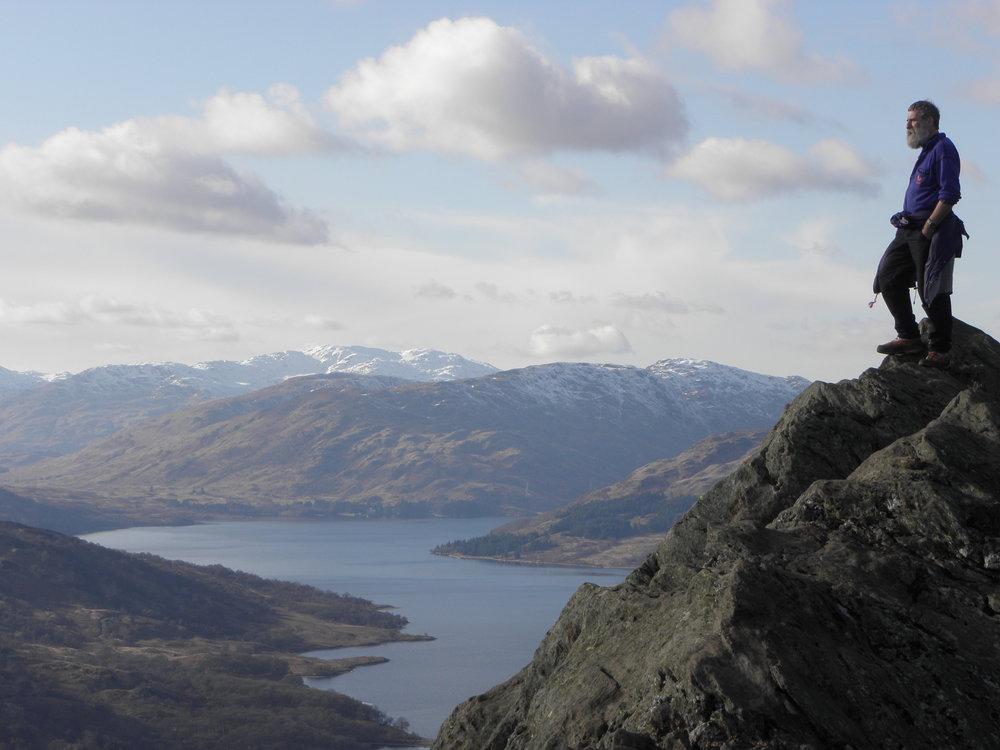 John Bamber on top of Ben A'an, The Trossachs, 91 kb