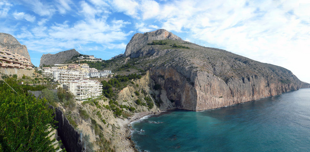 The Toix cliffs close to the town of Calpe, Costa Blanca, Spain., 149 kb