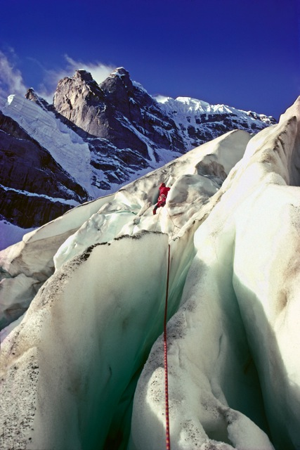 Dick Renshaw on the first ascent of Kishtwar Shivling., 82 kb