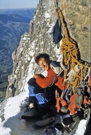 Venables at Death Bivouac, North Face of the Eiger, 71 kb