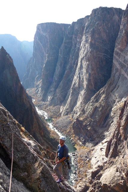 Dougald McDonald in the Black Canyon of the Gunnison, Colorado., 106 kb
