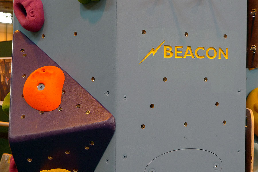 Funky new holds and volumes on the Beacon traversing Wall, 103 kb