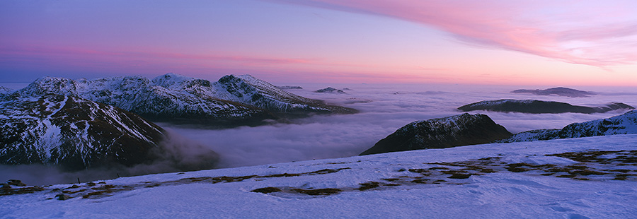 Looking south from Pillar's summit to the Scafell range., 114 kb