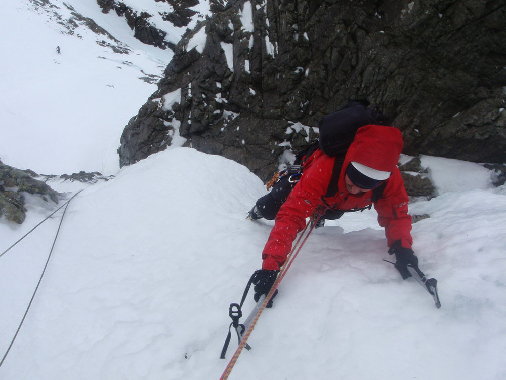 Enjoying good ice on Italian Climb, Ben Nevis, 122 kb
