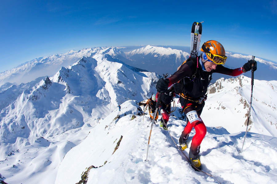 Es Tresidder: final ascent of the Grand Mont, 2700m, in the 4-day Pierra Menta Ski Mountaineering race, Beaufortain, March , 130 kb