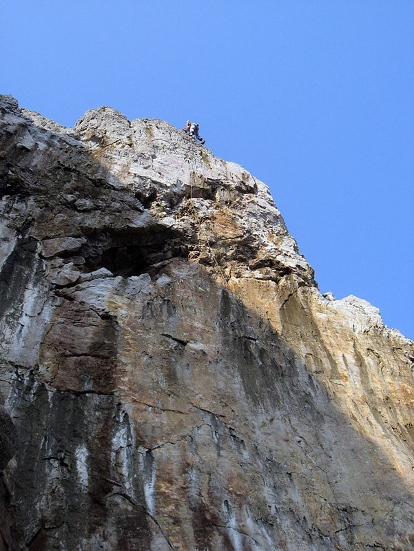 Gaz Parry on top of The Big Issue - Pembroke, 147 kb