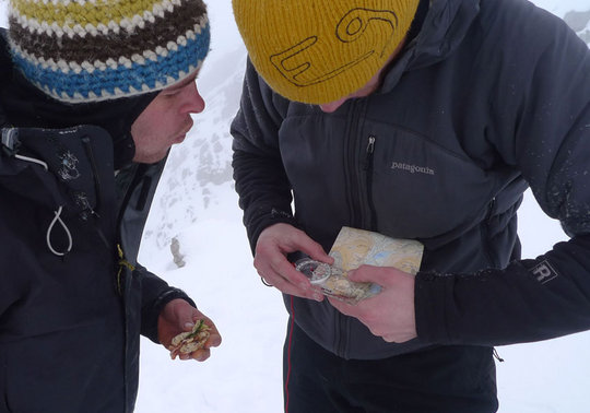 Winter navigation on Scafell, 40 kb