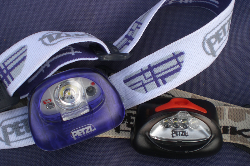 The new Petzl TIKKA XP®² and its older relation, 182 kb