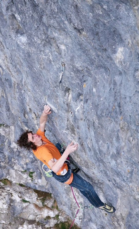 Ondra's ascents of the two F9a's (here he's on North Star) are the first repeats of a ninth grade route in the UK, 203 kb