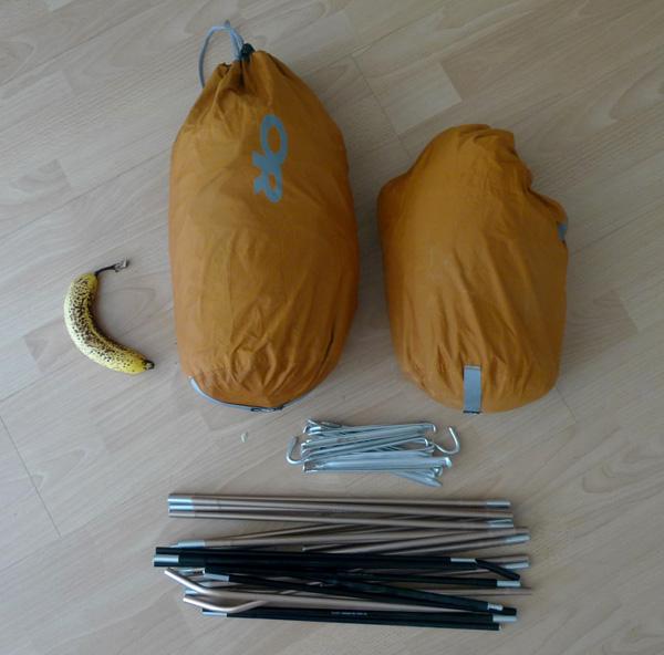 The Marmot Grid spilt into two stuff sacks, compression sacks are probably better., 94 kb