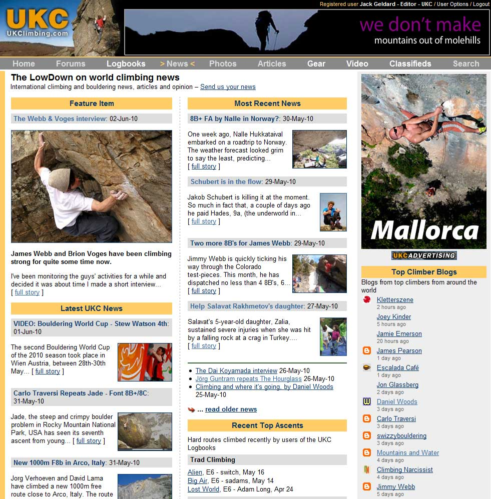The LowDown News Page on UKC, 181 kb