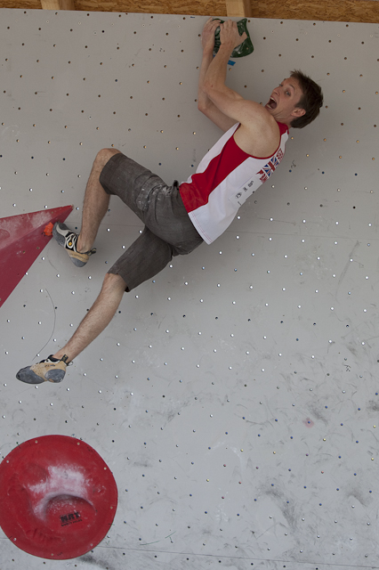 Stew Watson competing in the Bouldering World cup last week at Vienna, 184 kb