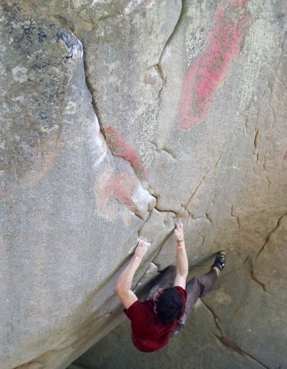James Webb on his all time favourite. The Shield, 8A+, Little rock city, 50 kb