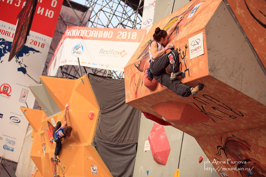 Kim Jain climbing to third place at the Moscow WC, 171 kb